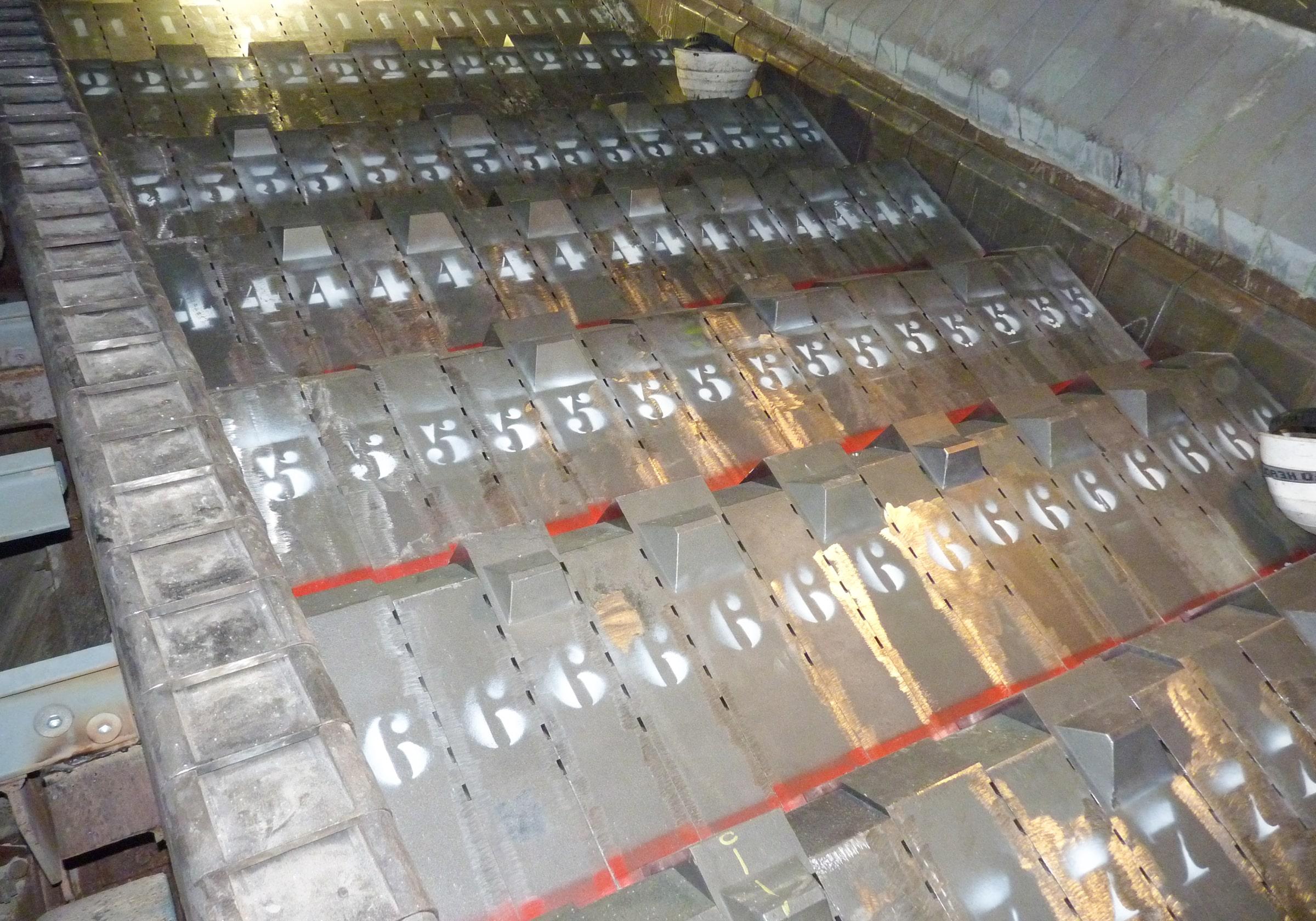 grille d'incineration maintenance four d'incineration ordures ménagères